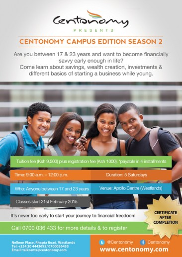 Centonomy Campus Edition is Back for a Second Season