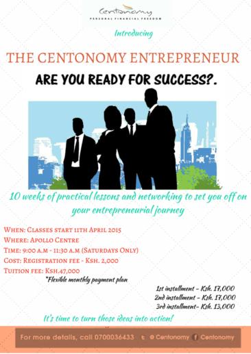 Introducing……..The Centonomy Entrepreneur