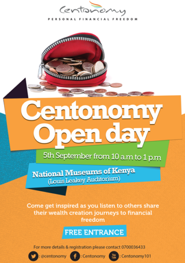 The Centonomy Open Day (September 5th at The National Museums of Kenya)